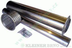 Výdech ( odtah ) 700 mm VAFKY KVART-CZ-Kompletní odtah k topidlům VAFKY do tloušťky zdi 700 mm