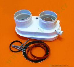 Rozdělovač sání / výfuk pro aqua comfort TURBO z pr. 60/100 mm na pr. 2x80 mm