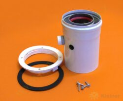 Koaxiální adaptér pro aqua comfort TURBO pr. 60/100 mm s odvodem kondenzátu