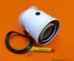 Koaxiální adaptér 80/125 pro aqua comfort TURBO pr. 80/125 s odvodem kondenzátu