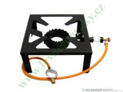 Vařič plynový 1-hořákový 7 kW MEVA MEGA ZEUS, nízkotlaký 2102-Jednohořákový vařič na propan-butan určený pro velkokapacitní ohřev