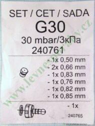 Sada trysek PB ( G30 ) MORA TR 2009 UN ( shodné s 850628 )(240761)