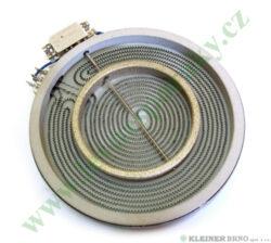 Těleso topné sálavé 210/120, 2200W dvoj. HL MORA 3651 ( shodné s 553894 )