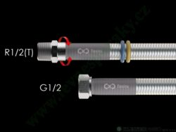 Hadice 0,5 m Flexira xConnect Gas Standard (plyn i voda) R1/2(T)-G1/2
