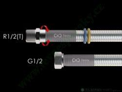 Hadice 1,5 m Flexira xConnect Gas Standard (plyn i voda) R1/2(T)-G1/2
