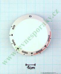 Knoflík termostatu bílý ( zrušeno bez náhrady )