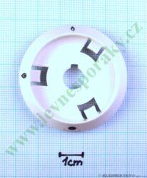 Podložka pod knoflík plyn bez zapal. B bílá v=16 mm