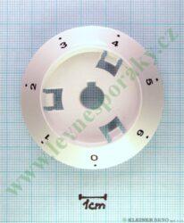Podložka pod knoflík elektrika 0-6 B bílá v=16 mm, zrušeno-náhrada je C20H000H5