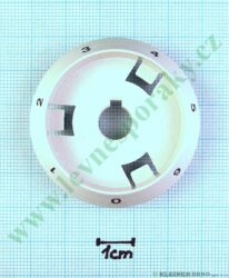 Podložka pod knoflík elektrika 0-6 B bílá