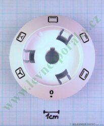 Podložka pod knoflík funkce 0+5F B bílá v=20 mm ( zrušeno bez náhrady )