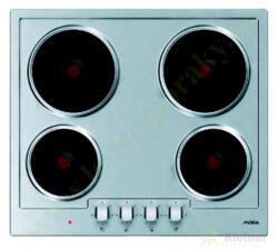 MORA VDE 631 X deska vestavná, 4 plotýnky litina (2 rychlovarné), nerez-Vestavná elektrická varná samostatná deska o šířce 58 cm