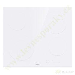 MORA VDSS 654 FFW PREMIUM - sklokeramická deska bez rámu, BÍLÁ-Sklokeramická vestavná deska, přední hrana zkosená, ostatní broušené, bílá